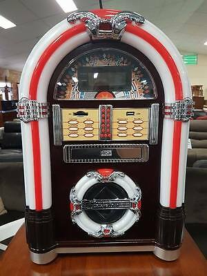 BRAND NEW Jukebox with USB/CD Player/SD Card/Remote plus more!