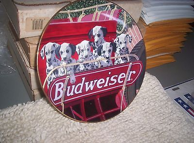 Budweiser Collector Plate.....puppies.......new....look!!!