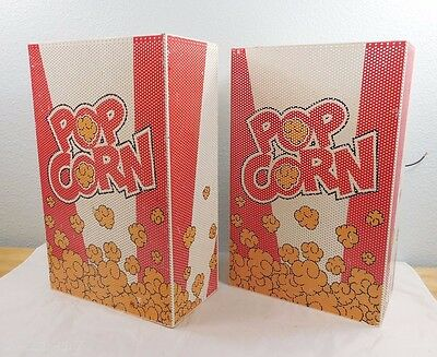 Pair Disney Retired WDW All Star Resort Room Prop Popcorn Box / Bag Light