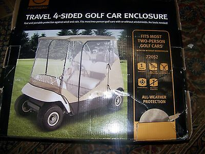 Classic Accessories Fairway 72052 Travel 4-Sided Golf Car Enclosure New