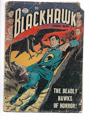 BLACKHAWK #48 JAN 1952 REED CRANDALL Bill Ward COLD WAR ERA COMIC BOOK