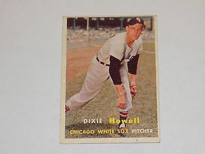 1957 Topps DIXIE HOWELL Card #221 Chicago White Sox ExMt