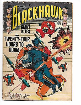 BLACKHAWK #82 NOV 1954 RED CHINA HATCHET MAN Commie Menace stories EVIL DICTATOR