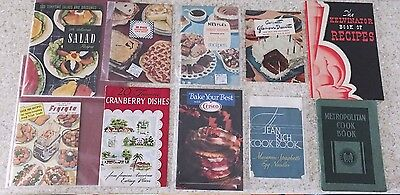 Lot of 10 Vintage Cookbooks / Manuals Nestle Kitchen Recipes Salads Fry Pies etc