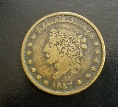 1837 USA Hard Times token in very good condition(NOT ONE CENT)