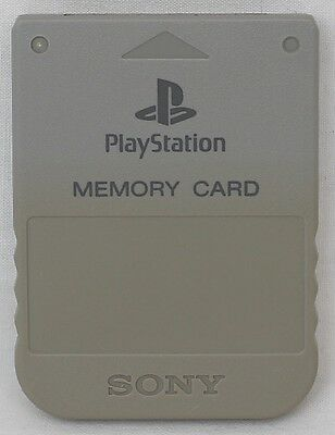 Genuine Original Sony PlayStation 1 (PS1) PSX Memory Card (Grey) SCPH-1020