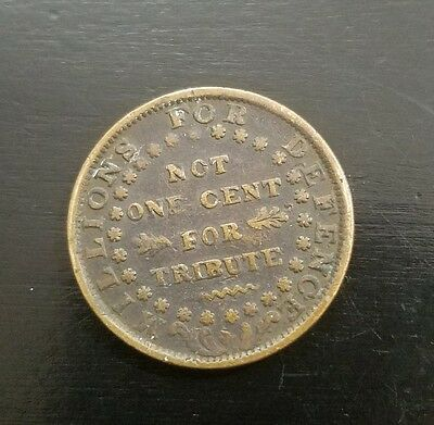 1837 USA Hard Times token in very good condition (FOR TRIBUTE) NOT ONE CENT