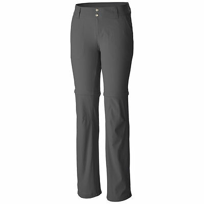 Columbia Women's Saturday Trail II Convertible Pant Grill 6 Long NWT