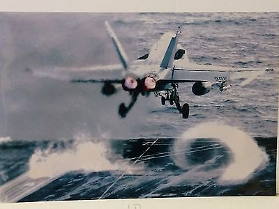 """U.S Navy Real Photo - McDonnell Douglas F/A-18 Hornet - """"Take Off"""" - 18"""" x 12"""""""