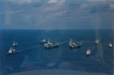 """U.S Navy Real Photo  -  Carriers & Destroyers - 18"""" x 12"""""""