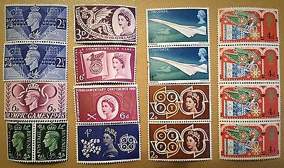 Great Britain stamps KGVI and QEII MNH singles and blocks