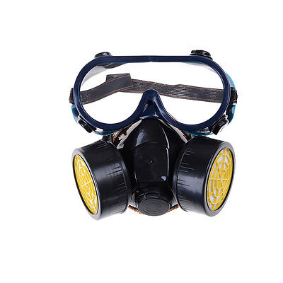 Emergency Survival Safety Respiratory Gas Mask 2 Dual Protection Filter&Glass MH