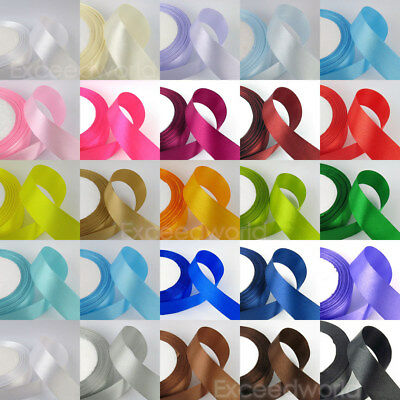 25/50 Yds Multi-color Multi-width SATIN RIBBON Wedding Craft Sewing Decorations
