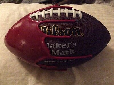Rare Makers Mark Bourbon Collectible Football Wilson Maker's Display Authentic