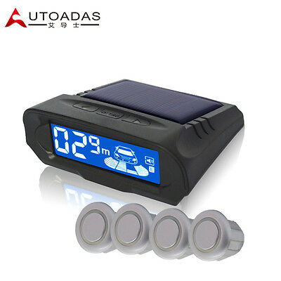 Car parking system with 4 sensors wireless solar charging + LCD display 318