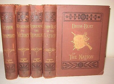 RARE 4 vol CIVIL WAR LINCOLN GRANT LEE BATTLES SLAVERY CSA UNION PROFUSELY ILLST