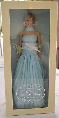 Vinyl Princess Diana Doll In Pale Blue Chiffon Gown, Franklin Mint