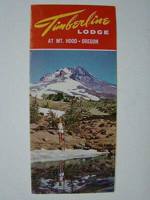 "Timberline Lodge Mt Hood Oregon 4 x 9 Fold Out Brochure ""The Shining"" 1950's"