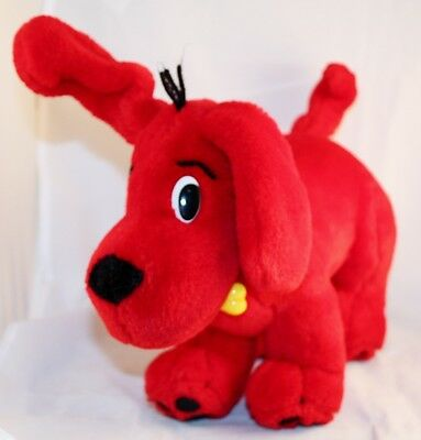 CLIFFORD the Big Red Dog Scholastic Plush 10 inches long Ear Raised