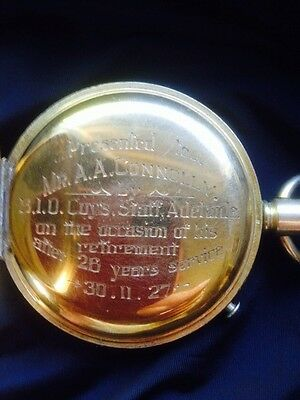 Antique 1927 Gold Filled Fob Stopwatch Swiss Made