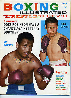 Sugar Ray Robinson Signed Autographed Boxing Illustrated Oct.1961 Magazine Cover