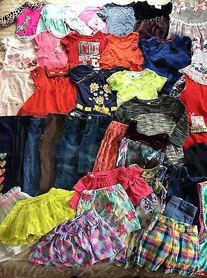 Great Toddler Girl Clothes 3T 4T Summer 38 Pieces