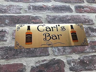 Aluminium Sign Personalised Bar Shed Large Wall Plaque Great For Man Cave Gift