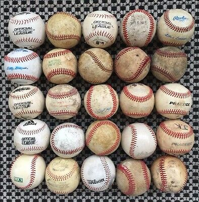 25 Used Baseballs Little League practice mixed good condition
