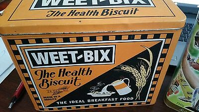 Pair of Weet Bix Collectable Cereal Tins