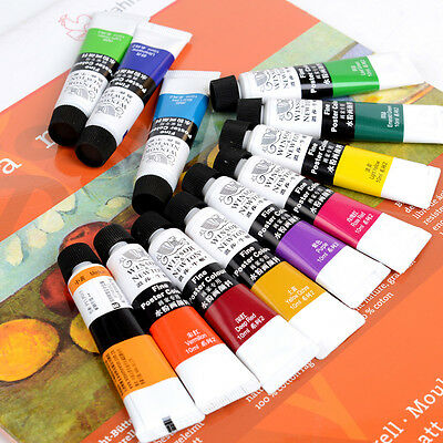 24 Color Set Winsor & Newton Artist Grade Transparent Gouache Paint Set