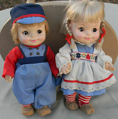 1966 Effanbee Dolls Just Friends Collection Dutch Treat Boy & Girl 2400