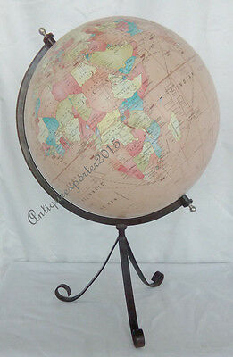 World Globe With Table Metal Tripod Stand Nautical Globe Decor Map