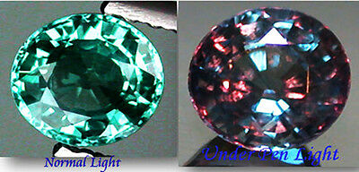 2.45ct. 8x7mm. RARE RUSSIAN COLOR CHANGE NATURAL CROWN DOUBLET ALEXANDRITE