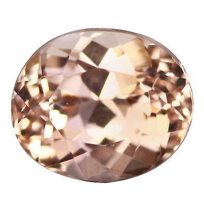 0.92Ct IF Splendid Oval Cut 6 x 5 mm AAA Pink Morganite
