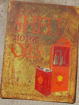 Collectable Tin  Sign Shell Motor Oil  Sign...