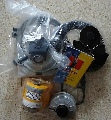 ISRAEL 2008 / 2009 NEW PROTECTIVE HOOD KIT WITH BLOWER large size GAS MASK