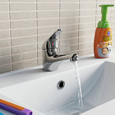 EUB bathroom Hot&Cold water faucet basin sink mixer taps deck mounted ebay com