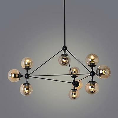 60W Simple Modern Artistic Pendant Light Lighting Fixture 10 Lights Chandelier