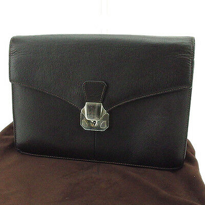 Auth dunhill clutch bag mens used J20376