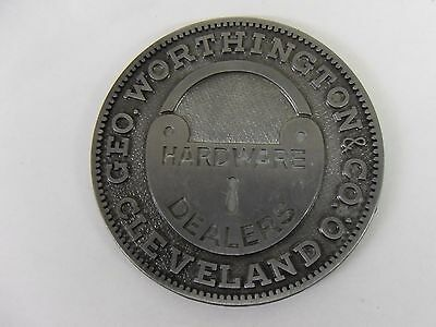 Geo Worthington & Co Hardware Dealers Cleveland Ohio 150th Anniversary Coin