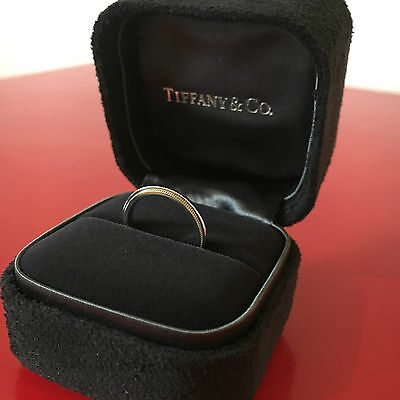 Tiffany & Co milgrain wedding band ring in platinum, 2mm wide. *Private seller*
