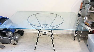 Glass Top Outdoor or Garden Dining Table
