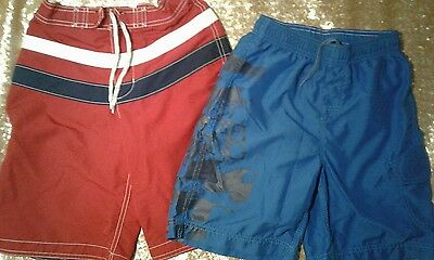 Boys Swimsuits Trunks Shorts Lands End and Billabong Size 10 (Lot of 2)