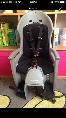 Hamax Plus Child Rear Bike Seat Bicycle In Excellent Condition