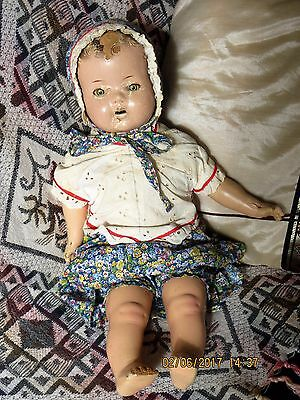 Antique Reliable Doll made in Canada Cloth Body, Moveable eyes