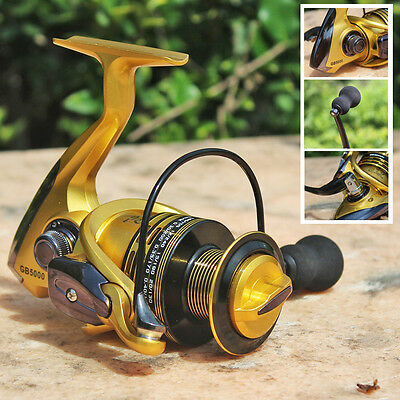 Spinning Fishing Reel Saltwater Fishing Tackle Bass Trout  Gold Fishing Reels