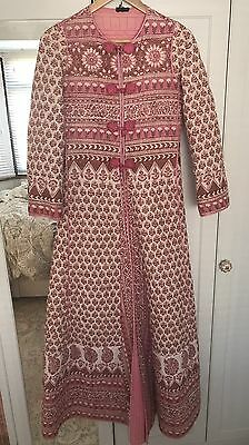 Beautiful Rare Vintage Indian Quilted Pink Dress Coat