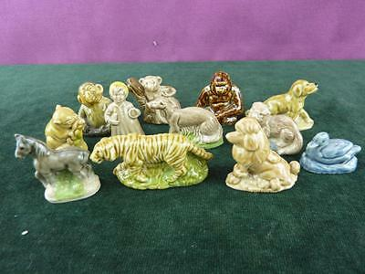 A Nice set of 12 Vintage Wade Whimsey figures Duck Monkey Etc. (12)