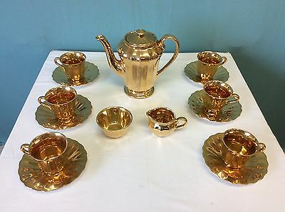Wade Gold Lustre 15 Piece Coffee Service