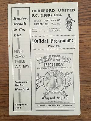 Hereford United v Llanelly early 50's